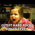 Cantora de hard rock mais fofa do mundo aparece em vídeo no YouTube