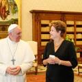 Papa confirma que vai à Jornada no Brasil e visitará Aparecida, diz Dilma