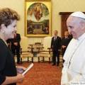 Papa vai gravar mensagem de paz e contra o racismo para Copa, diz Dilma