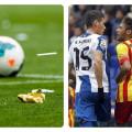 Torcedores imitam macaco e atiram banana para Neymar e Daniel Alves