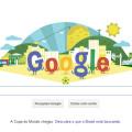 Google homenageia início da Copa do Mundo do Brasil