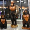 Tem início exposição de esculturas do artista Manoel da Marinheira; veja fotos