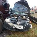 Irmãos morrem em acidente entre carro e caminhão na BR-423; criança ficou ferida