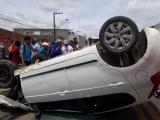 Carro capota e deixa ex-vereador ferido em Santana do Ipanema