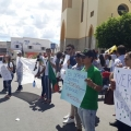 Em Santana, manifestantes fazem ato contra bloqueio de recursos na Educação
