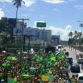 Alagoanos participam de manifestação pró-Bolsonaro na orla de Maceió