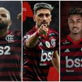 Gabigol, Arrascaeta e Bruno Henrique têm quase o dobro de gols do Botafogo