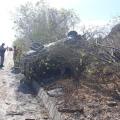 Motorista perde controle e capota veículo na AL 220 em Delmiro Gouveia
