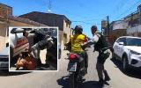PM pega 'carona' com motociclista durante perseguição a assaltante
