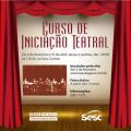 Sesc Alagoas promove curso de Iniciação Teatral