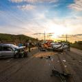 Colisão entre veículos deixa cinco pessoas feridas na AL 220 em Tapera