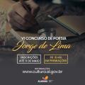 Cultura lança nova edição do Concurso de Poesia Jorge de Lima