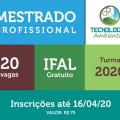 Ifal oferta 20 vagas para Mestrado Profissional em Tecnologias Ambientais