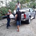 Sindpol entregou cestas básicas às famílias desalojadas de Santana do Ipanema