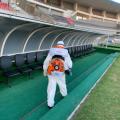Futebol: Na semana da retomada, Selaj inicia sanitização do Estádio Rei Pelé