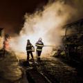 Bombeiros combatem incêndio em ônibus em São José da Tapera