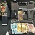 Radiopatrulha prende homem com pistola e munições em Santana do Ipanema
