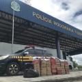 Dupla é presa transportando tênis falsificados na BR 423, no Sertão de Alagoas