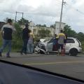 Acidente entre dois carros faz vítimas na BR 316 em Santana do Ipanema