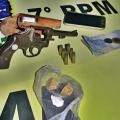 Homem é preso com revólver na zona rural de Maravilha