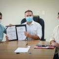 Governador Renan Filho e secretário autorizam construção de escola em Pariconha