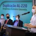 Governo de AL vai investir R$ 1 bi na duplicação de rodovias até o final de 2022