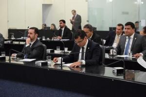 Dezesseis parlamentares participaram da sessão (Foto: Assessoria ALE)