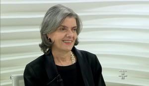 Ministra foi questionada sobre a decisão que proibiu a vaquejada em todo país (Foto: Reprodução / TV Cultura)