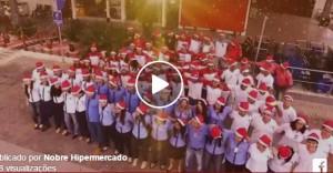Vídeoclipe mostra setores e colaboradores do hipermercado (Foto: Reprodução)