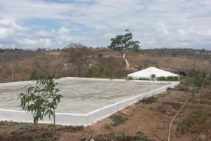 Cisterna construída na região do semiárido, na Paraíba - (Foto: Camila Boehm/Agência Brasil)