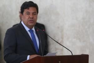 O ministro Mendonça Filho fala na cerimônia de sanção da reforma do ensino médio (Foto: Antonio Cruz / Agência Brasil)