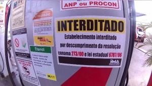 Fiscais do IMA interditaram e multaram um posto de combustível no sertão (Foto: Ascom/IMA)