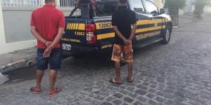PRF prendeu seis pessoas durante a Operação Tiradentes 2017 (Foto: Assessoria / PRF-AL)