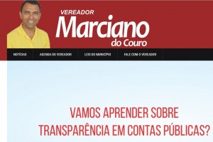 Vereador criou página para mostrar ações e conversar com o cidadão (Foto: Reprodução)