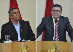Junior e Vaz protagonizaram discursos opostos na tribuna (Fotos: Lucas Malta/Alagoas na Net)