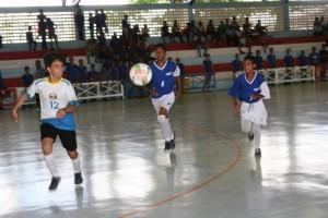 Jogos Estudantis de Alagoas (Jeal) na categoria infantil (12 a 14 anos) nas modalidades futsal e handebol (Foto: José Demétrio/Agência Alagoas)