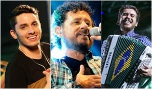 Jonas, Jorge de Altinho e Luan são atrações do São João (Fotos: Divulgação)